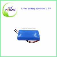 1S2P 3.7V ICR 18650 Li-ion Rechargeable Battery 5200mAh