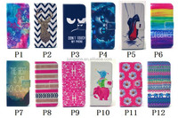 New cartoon flower Stand Hybrid Flip Wallet Leather Case Cover for samsung GALAXY s4 mini i9190