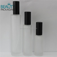 30ml 50ml 100ml frost perfume glass bottle with black perfume pump