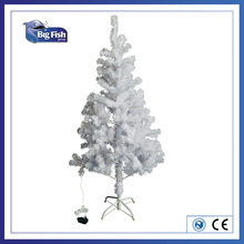 1.5m hinged branches white christmas tree