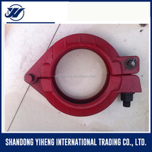 pipe hold clamp concrete pump rubber hose clamp sizes
