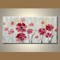 Wholesale Handmade Abstract Modern Art Flower Painting On Canvas