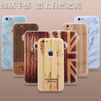 2015 New product marble wood phone case for iphone 6,6 plus, for iphone 5/5S wood + pc + metal phone cover