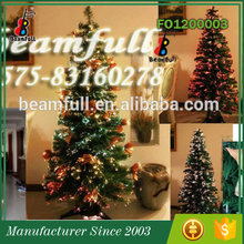 10 years Factory Most popular Artificial led lighted Pre-decorated christmas tree