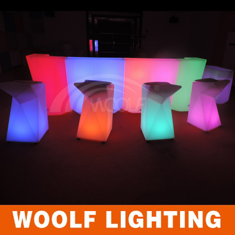 Modern design hotel club glow led bar counter buy led for Design hotel glow