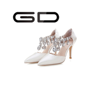 2015 new beautiful high heel women shoes diamond decoration pointed toe shoes