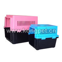 Hot sale big American style plastic flight pet carrier /dog crate CA006