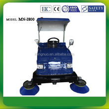 I800 OEM semi-automatic sweeper car ,small street sweeping vehicle , robot car cleaning machine
