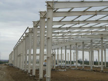 Fast installation economical monolayer steel structure for factory building