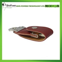 Leather 16 gb usb flash drive with high speed
