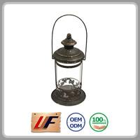 2015 Hot Selling Natural Color Interior Decorating Cage Shape Antique Hanging Lantern