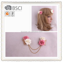 Fashion rose flower hair combs girls flower hair comb