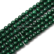 Wholesale green malachite price round natural malachite beads