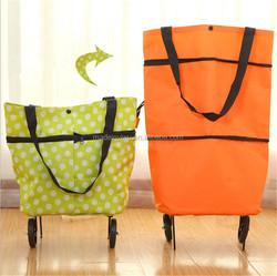Foldable Trolley Bag vegetable shopping trolley bag canvas messenger bag