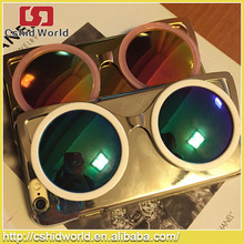 "New Luxury Dark glasses Sunglasses Mirror Electroplating Case Cover for iPhone 6 4.7"" Phone Case Protect Skin Silver Gold Plated"