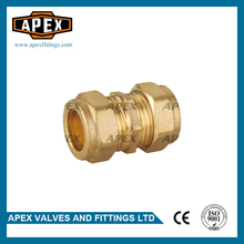 High Quality Wholesales Price APEX Equal Straight Brass Compression Fitting For Copper Pipe