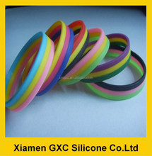 bulk buy fashion silicone rubber wristband bracelet 3 layer color from China