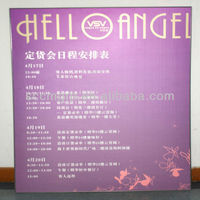 sign board stickers/colorful shape/glue on wall