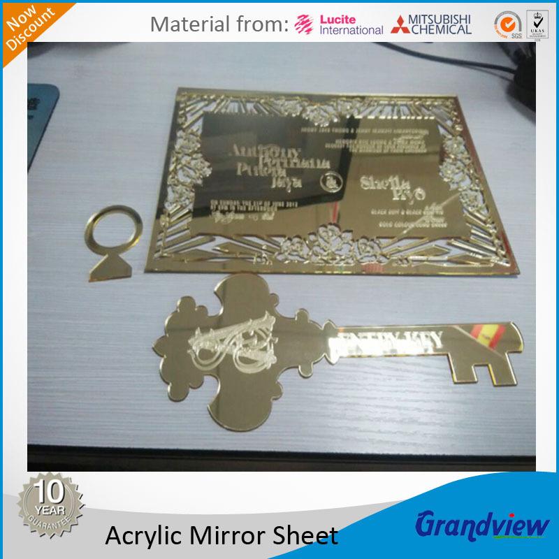 Or mince acrylique miroir feuille pour invitation de for Miroir acrylique