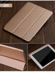 2015 Original popular folio 3 folding stand leather case wholesale for apple ipad 6 leather case wholesale