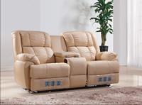 Latest design home genuine leather recliner loveseat sofa