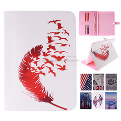 Printing Magnetic Standing Folio Tablet PU Leather Case for Samsung GALAXY Tab 4 T530