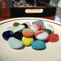 Colorful High Polished Natural Stone Glass Stone for Decoration