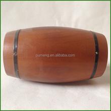 Wooden Mini Barrel Use Pack Coffee Tea Candy