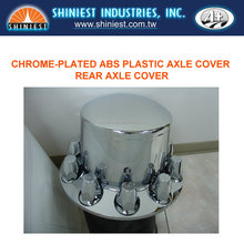 A+ Wheel Axle Covers, Chrome-Plated Plastic Rear Axle Cover for Truck Wheels