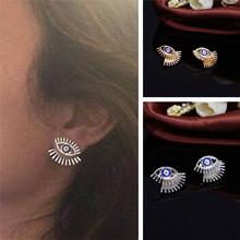 European and American trade jewelry fashion personality metal drip earrings earrings eyes