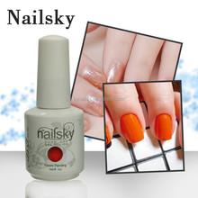 Nailsky hot sales uv gel nagel design , naildesign with 147 color