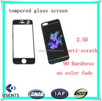 dongguan lastest anti-scratch tempered glass screen protector,3 layers colored screen glass film for iphone6