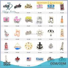 Wholesale cute 600 style travel alloy motorcyle floating locket alphabet floating charms for locket pendants