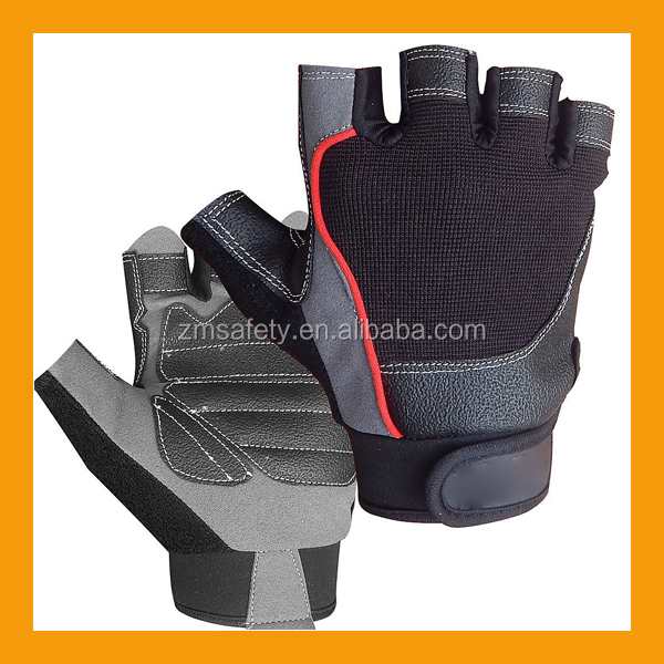 Dam Weight Lifting Gym Gloves Body Building Workout White: Cheap Half Finger Exercise Training Gloves/custom Leather