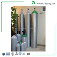 EN STD 200Bar 50L Aluminum Gas Cylinder for Medical Oxygen Storage