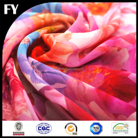 Factory custom high quality digital printing ombre silk chiffon fabric