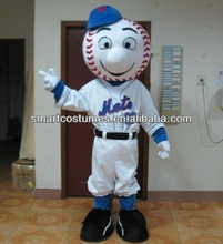 EVA plush material adult cartoon character mascot costume mr met costume/ met mascot