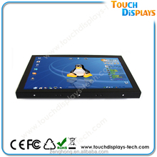 """22"""" open frame Touch screen Monitor WMS/POG IR/SAW/Capacitive/resistive touch screen DVI VGA USB port"""