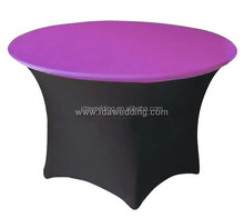 round pink spandex party table covers/christmas table covers/cheap party table covers