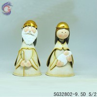 metal handicrafts decor home with holy farther and virgin mary