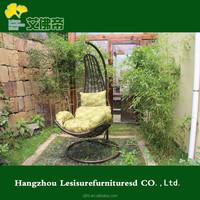 Outdoor high quality lfd PE wicker garden rattan swing ball chair