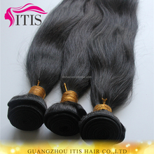 Fast shipping wholesale natural woven curtain silk straight hair weft