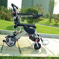 Elderly and disabled intelligent deluxe folding power chair