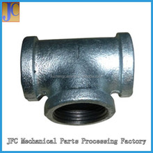 DIN Standard Tee, Hot Dipped Galvanized Malleable Iron Pipe Fittings