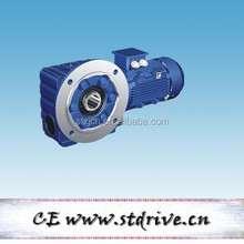 STdrive brand S47 series helical worm reduction gearbox with 3phase 2HP AC motor unit
