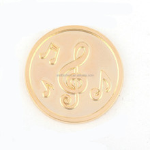 Musical Note Gold Plated Medium Size Coins For Coin Necklace