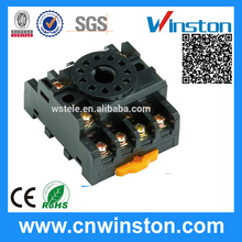 PF113A General Purpose 11 Pin Round Type 300VAC 12A Plug-in Electric Plastic Relay Socket with CE