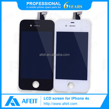 Wholesale High quality Black/White LCD assembly, LCD screen with digitizer touch panel & front frame for iPhone 4s
