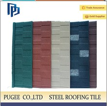 install tile roofing/color stone coated roofing tile