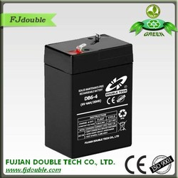 Hot selling storage mf 6v 4ah rechargeable lead acid battery